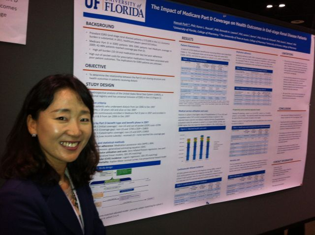 Dr. Haesuk Park at the APhA Midyear Meeting