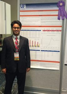 Dr. Abdullah Alalwan with his award-winning poster at ISPOR.
