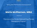 POP Guest Seminar Announcement: Marie McPherson, MBA