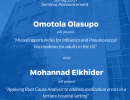 POP Seminar Announcement: Omotola Olasupo and Mohannad Elkhider