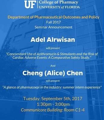 Adel Alrwisan and Alice Chen POP Seminar