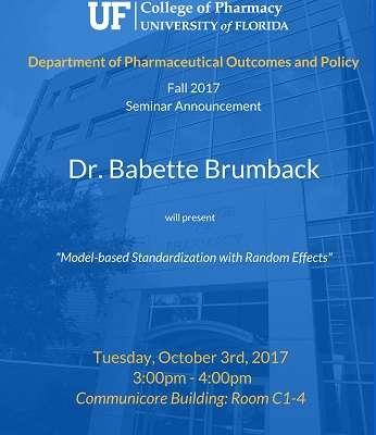 Dr. Babette Brumback POP Seminar