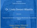 POP Seminar Guest Speaker Announcement: Dr. Linda Simoni-Wastila