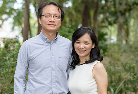 Yu-Jung (Jenny) Wei, Ph.D., an assistant professor in the department of pharmaceutical outcomes and policy in the UF College of Pharmacy and her husband, Ting-Yuan (David) Cheng, Ph.D., an assistant professor in the department of epidemiology in the UF College of Public Health and Health Professions and the UF College of Medicine, are both recipients of prestigious National Institutes of Health-funded Career Development Awards, or K awards.