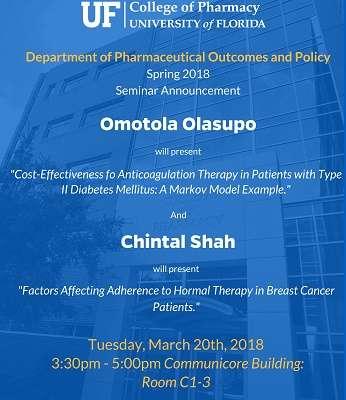 Omotola Olasupo and Chintal Shah POP Seminar