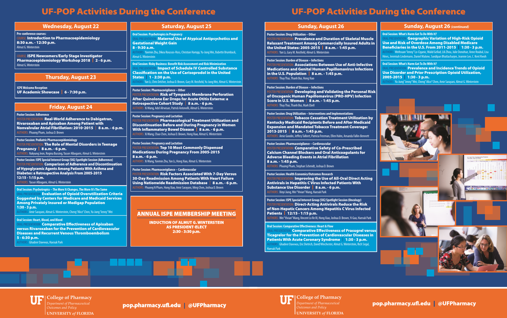 Full listing of POP ICPE posters and presentations.
