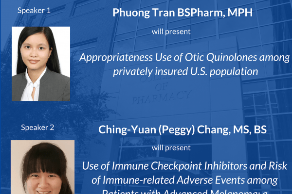 Phuong Tran and Peggy Change Seminar Announcement