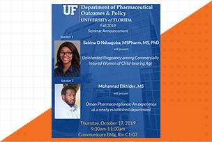 Sabina and Mohannad seminar Announcement