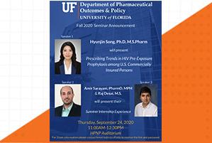 Amir Sarayani, Raj Desai, and Hyunjin Song Seminar Announcement