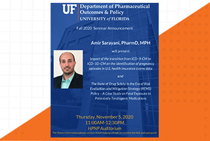 Amir Sarayani Seminar Announcement with orange and white background