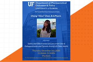 Alice Chen Seminar Announcement