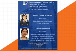 Jessie Wang and Yushi Huang Seminar Announcement
