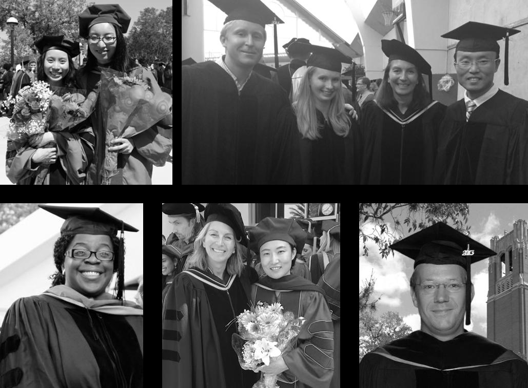 Grouping of graduation photos of POP alumni