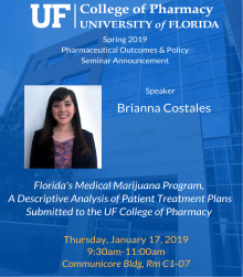 Brianna Costallas Seminar Announcement
