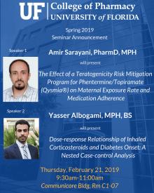 Amir and Yasser Seminar 2019
