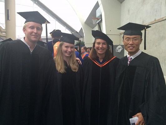 Caitlin Jonathan Wei graduation