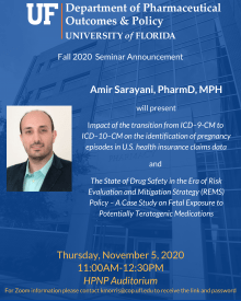 Amir Sarayani Seminar Announcement